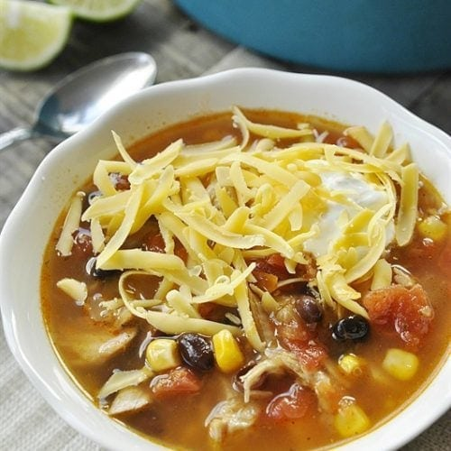Fiesta Turkey Soup - perfect for leftover turkey