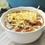 Fiesta Turkey SOup - the perfect solution to leftover turkey