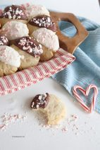 Chocolate Dipped Peppermint Sugar Cookies