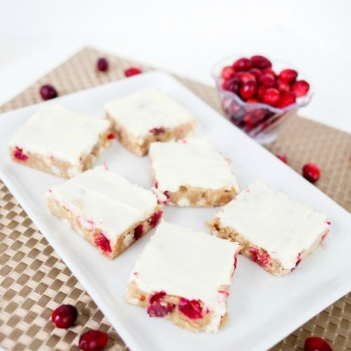 White Chocolate Cranberry Bars