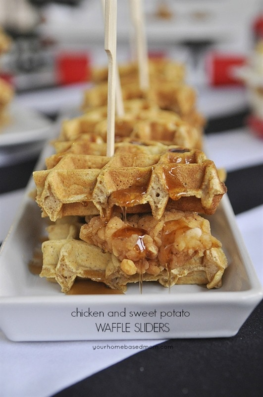 Chicken and Sweet Potato Waffles