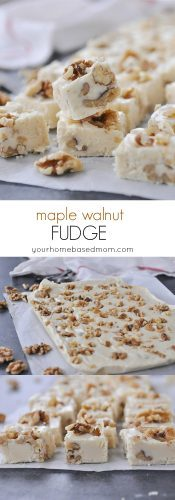 Maple Walnut Fudge for the holidays!