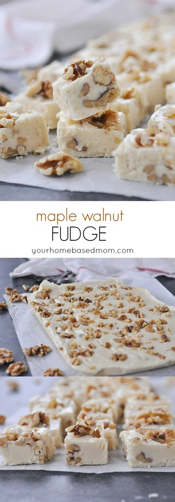 Maple Walnut Fudge for the holidays!