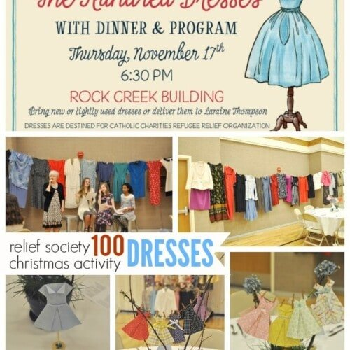 100 Dresses Relief Society Christmas Activity