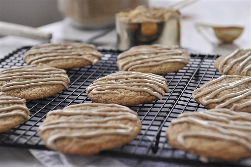Brown Sugar Cookie with Maple Glaze