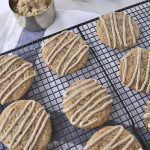 Brown sugar cookies on a cooling rack