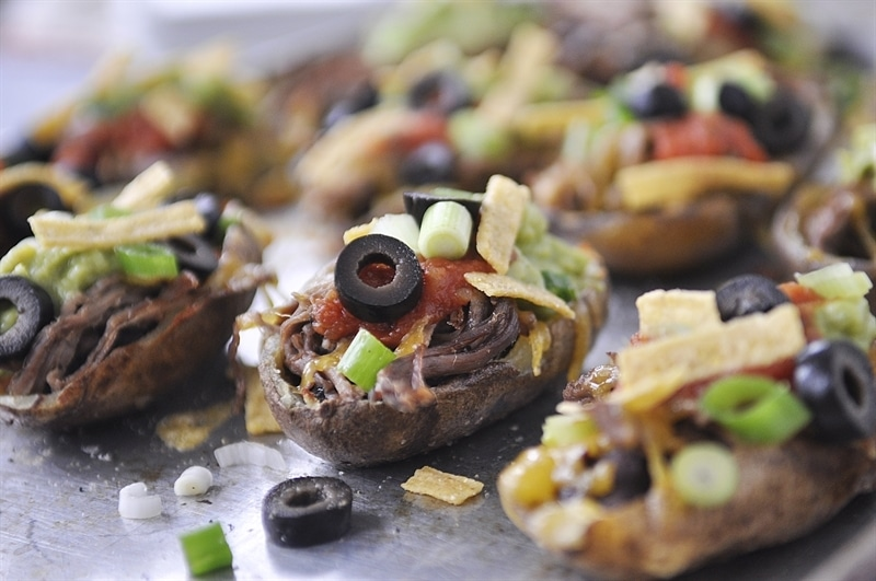 These Nacho Loaded Potato Skins are the perfect combination of two ...