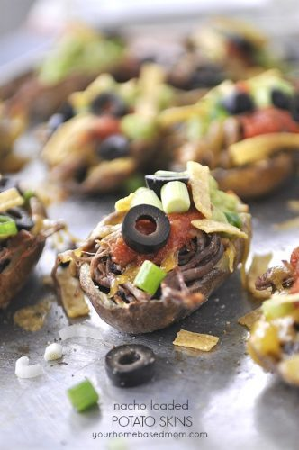 Nacho Loaded Potato Skins - the perfect big game day treat.