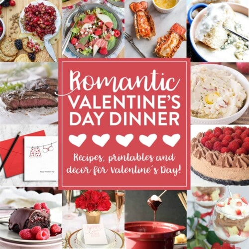 Valentine's Day Dinner Meal Plan