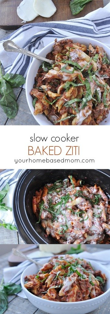 crock pot ziti - easy dinner recipe