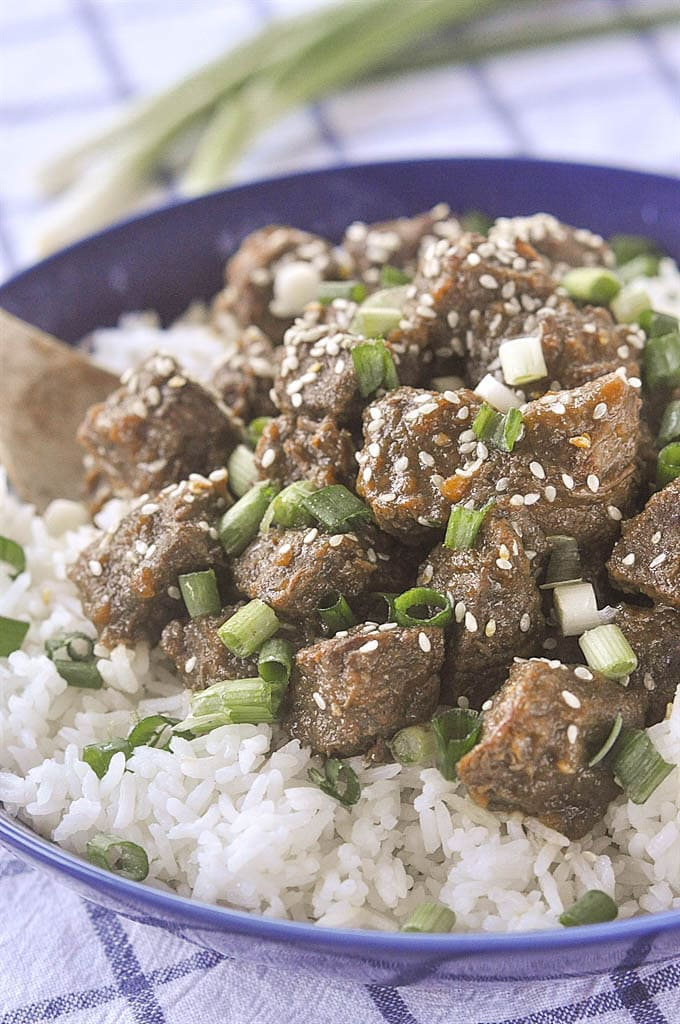 teriyaki beef made in a slow cooker