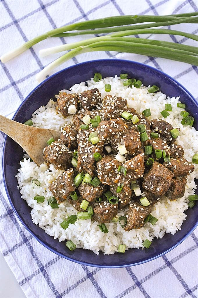 bowl of teriyaki beef