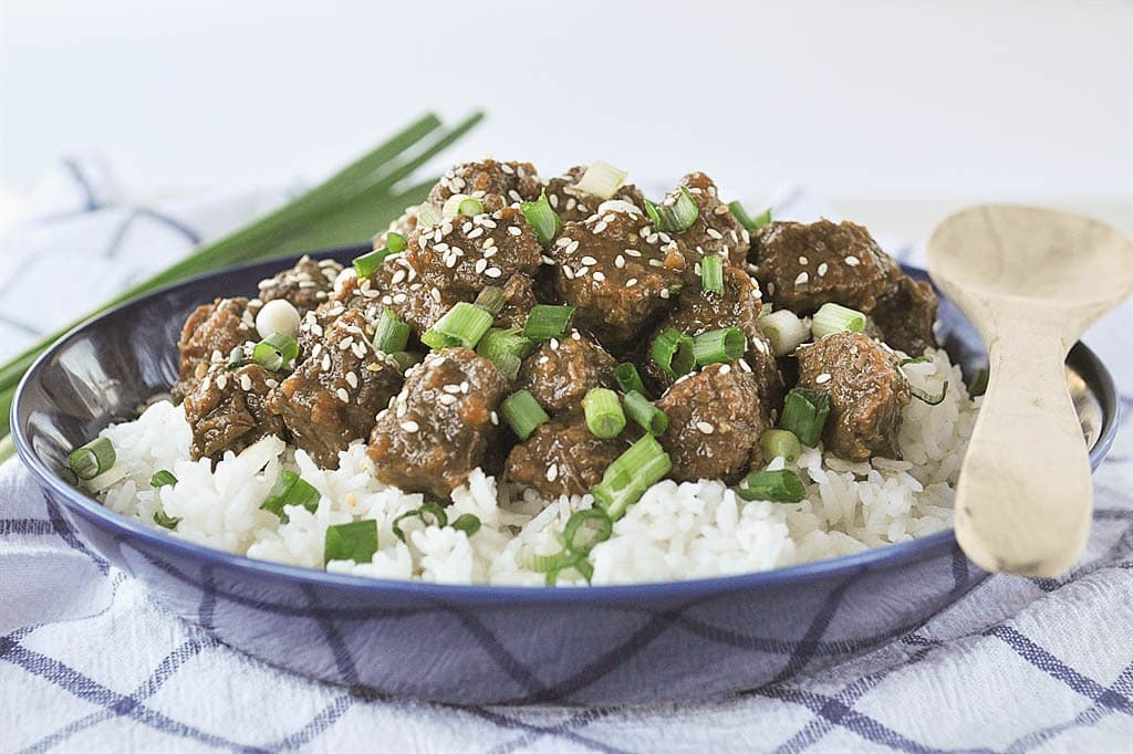 teriyaki beef over rice