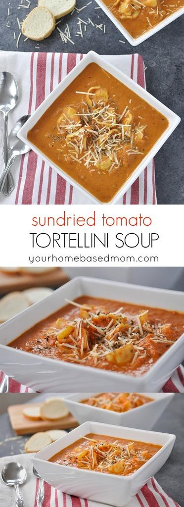 Sundried Tomato Tortellini Soup