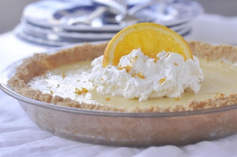 Orange Pie with orange whipped cream