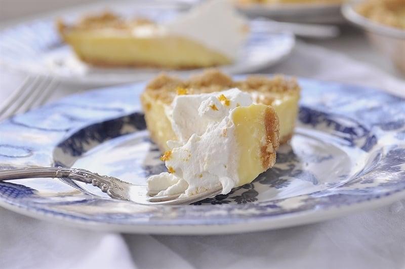 A bite of orange sunshine in your mouth - orange pie