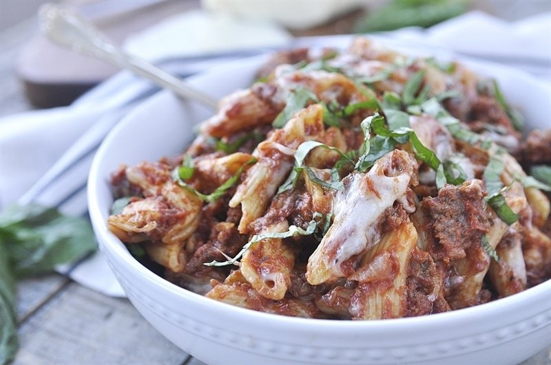 slow cooker baked ziti recipe