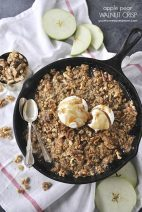 Apple Pear Walnut Crisp