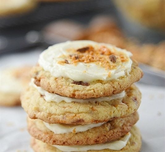 Frosted Candy Bar Sugar Cookie
