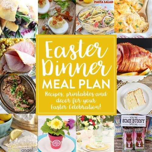 Easter Dinner Menu and Meal Plan