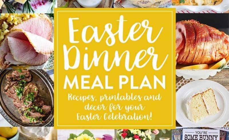 Easter Dinner Menu and Meal Plan
