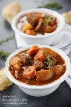 Italian Beef Stew-Instant Pot & Slow Cooker