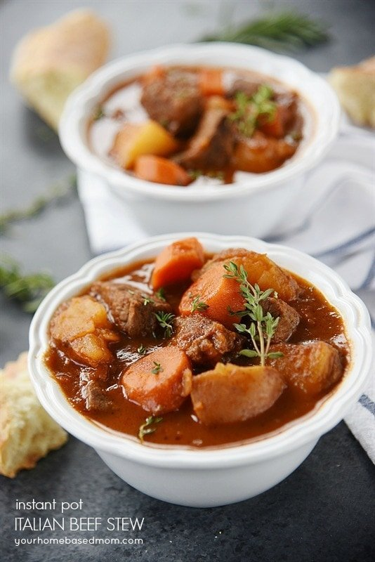 Instant Pot Italian Beef Stew Recipe From Your Homebased Mom
