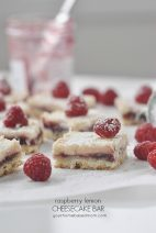 Raspberry Lemon Cheescake Bars