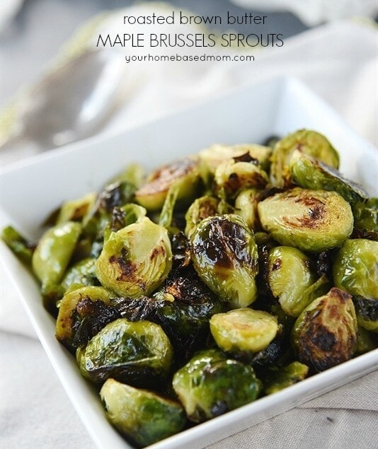 Roasted Brown Butter Maple Brussels Sprouts