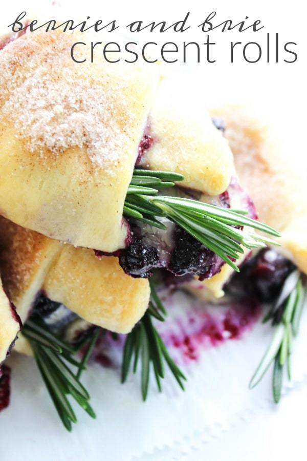 Easter Dinner Menu - Berries and Brie Crescent Rolls