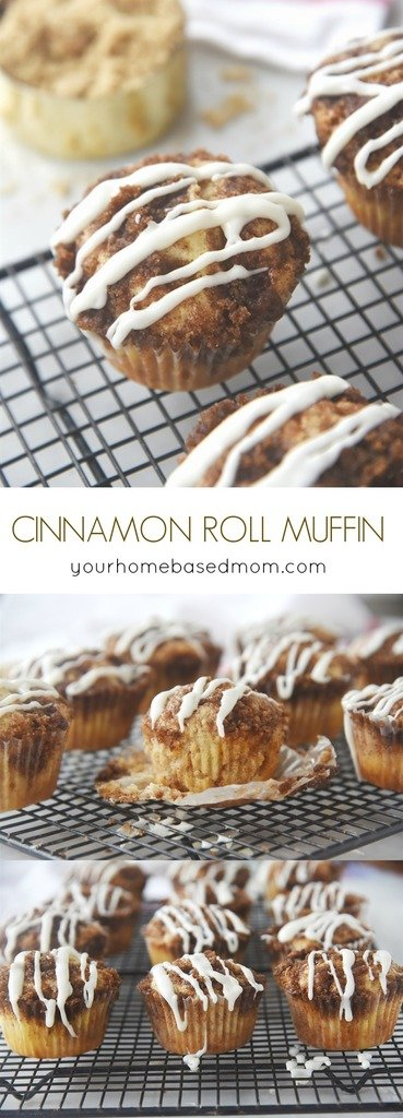 Cinnamon Roll Muffins - the perfect , quick solution to that cinnamon roll craving.