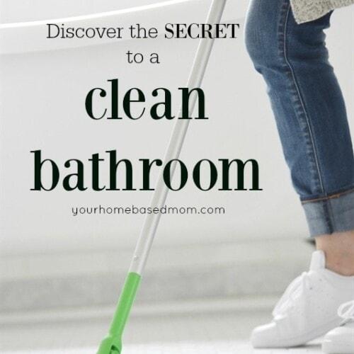 Secrets to a clean bathroom