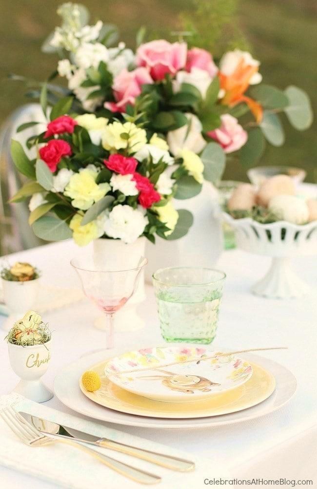 Easter Menu Plan - Easter Brunch Tablescape