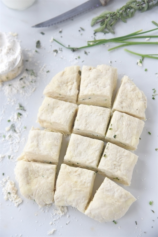 Flaky Herbed Biscuits are tender, light and so full of flavor!