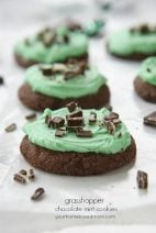 Grasshopper Mint Chocolate Cookies