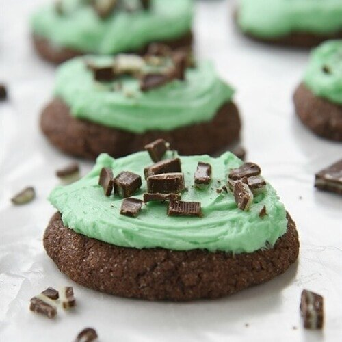 Grasshopper Chocolate Mint Cookies