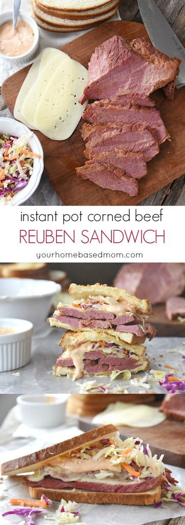 Instant Pot Corned Beef Reuben Sandwich