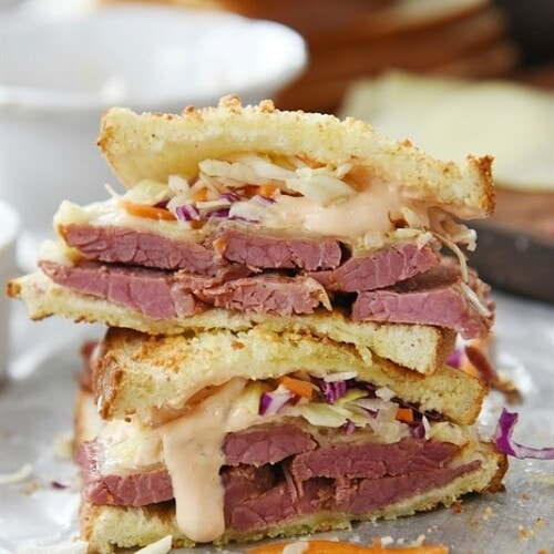 Instant Pot Corned Beef and Reuben Sandwich