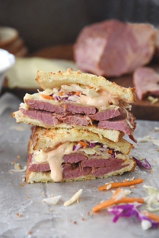 Instant Pot Corned Beef and Reuben Sandwich