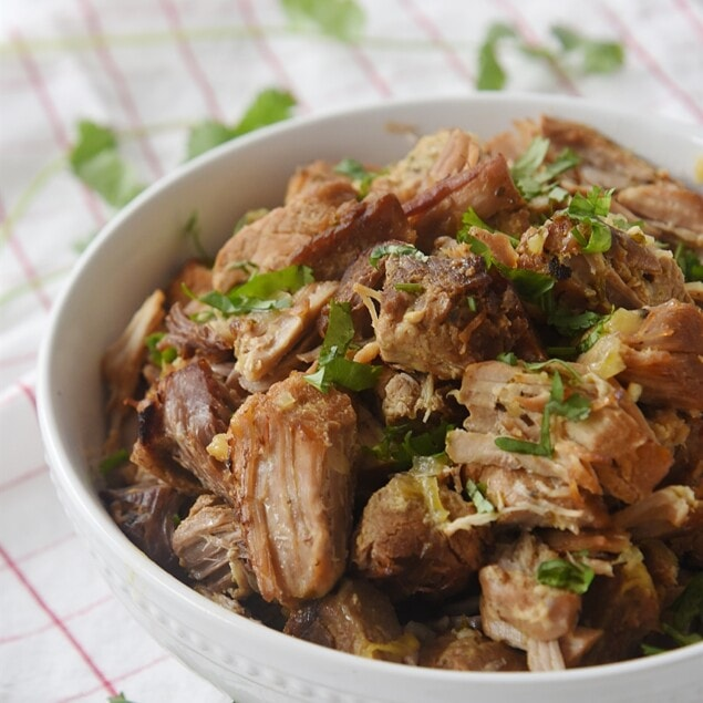 bowl of pork carnitas