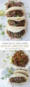 Instant Pot or Slow Cooker Mexican Shredded Beef