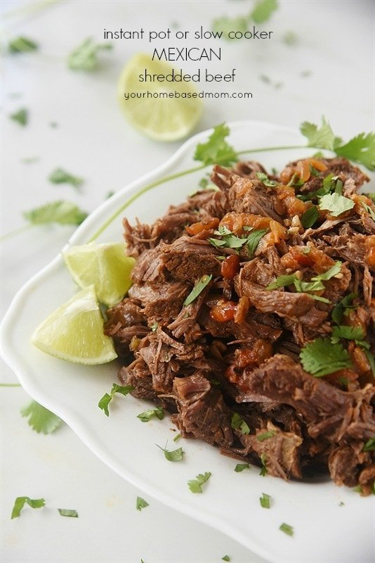 Mexican Shredded Beef - make it in your Instant Pot or Slow Cooker!