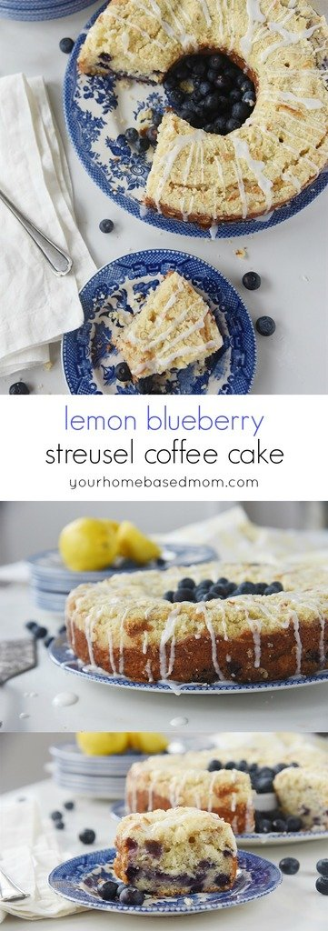 lemon blueberry coffee cake with streusel topping