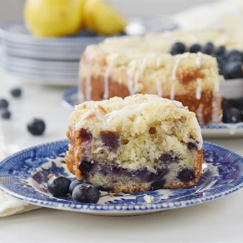 Lemon Blueberry Streusel Coffee Cake