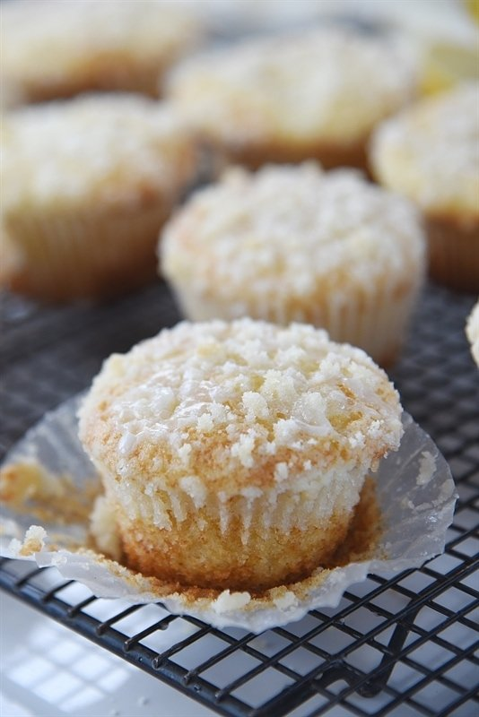 Lemon Crumb Muffins are full of flavor, moist and fluffy on the side and crunchy and sweet on the outside thanks to the streusel topping.