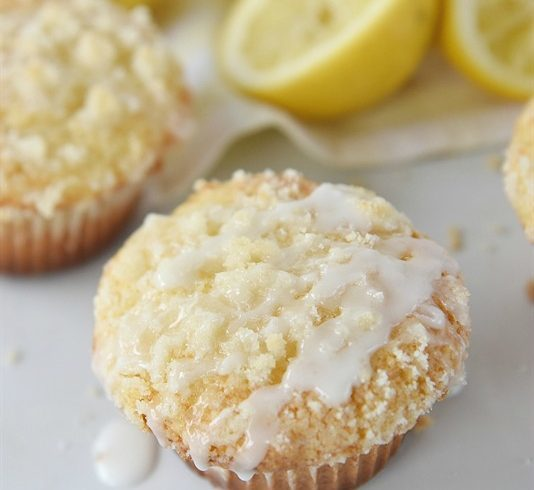 Lemon Crumb Muffins pack a a lot of lemon goodness in such a small package!