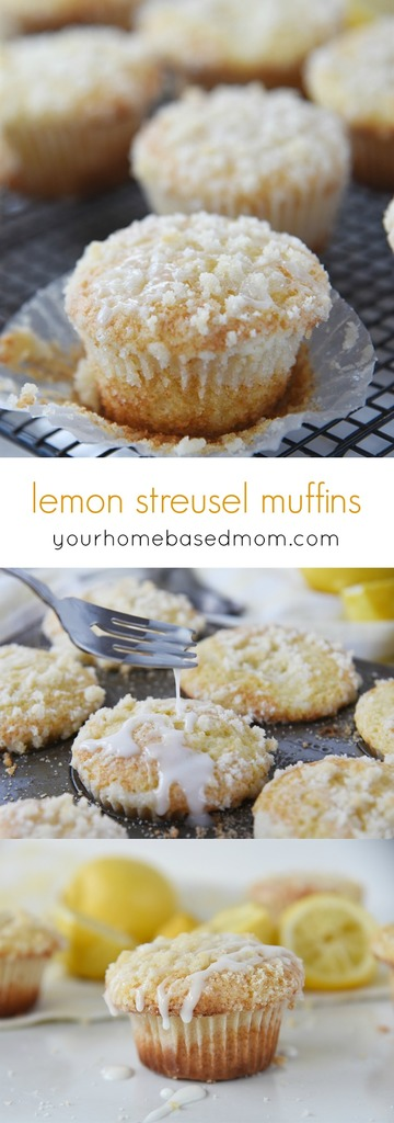 Lemon Streusel Muffins are light, lemony and delicious