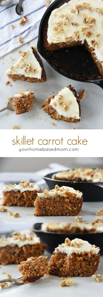 Skillet Carrot Cake is easy, fast and delicious!