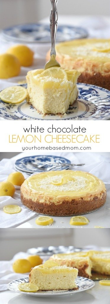 White Chocolate Lemon Cheesecake, you'll want to put a fork in it!