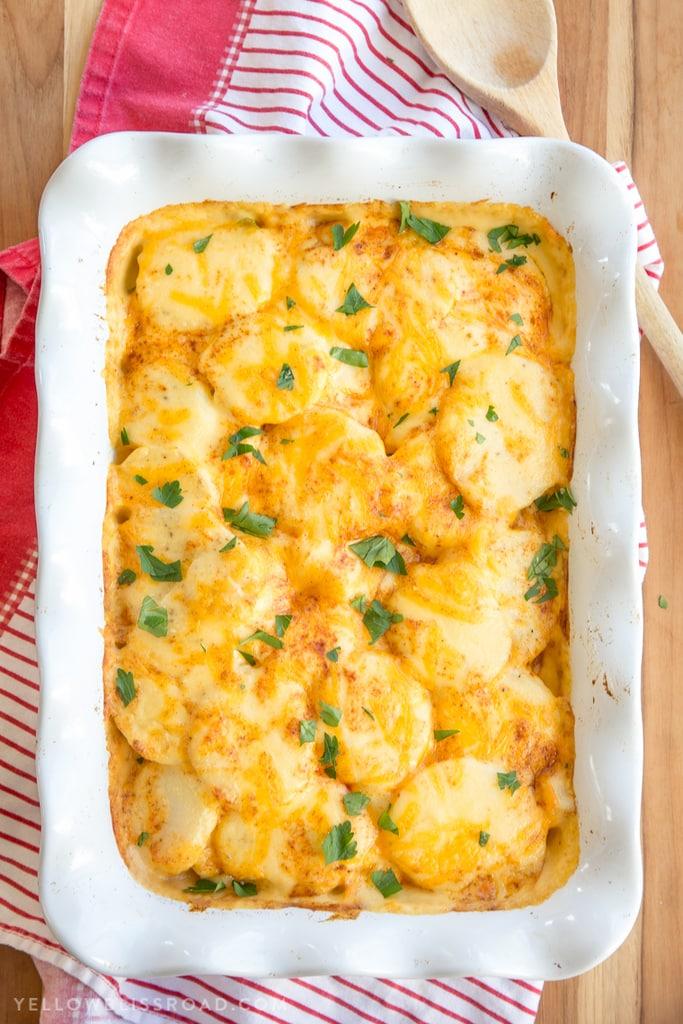 Easter Menu Plan - cheesy scalloped potatoes